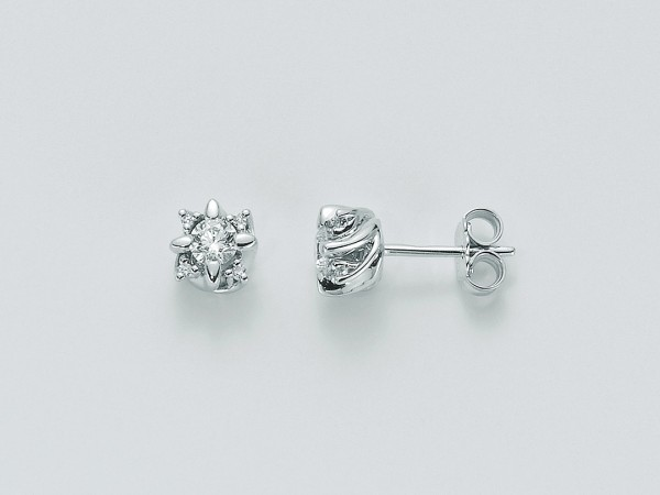 Orecchini Miluna In Oro Con Diamanti