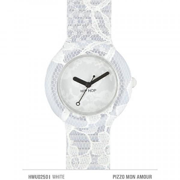 Hip Hop Orologio Pizzo Mon Amour 32m Bianco
