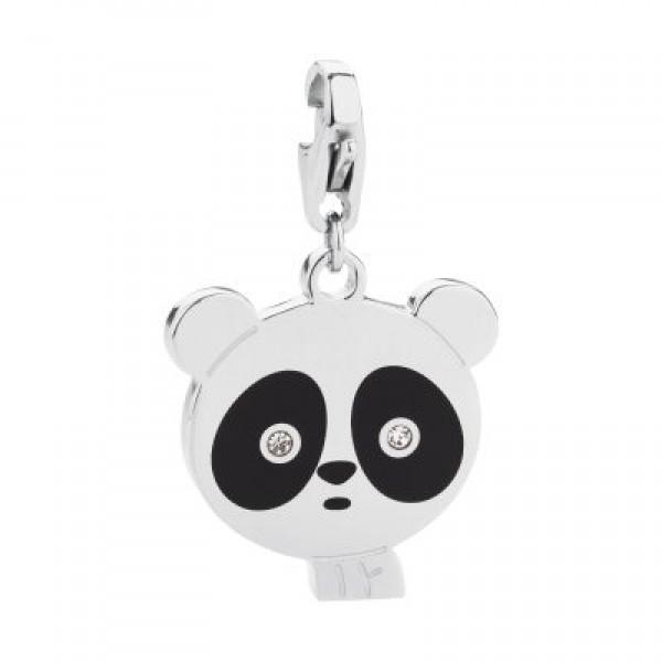 Ciondolo Sagapo Happy Smalto Nero Forma Panda