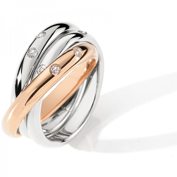 Anello Morellato Love Rings  Rose Gold Mis 14
