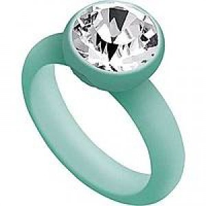 ANELLO OPSOBJECT ROCK VERDE ACQUA CRYSTAL SIZE