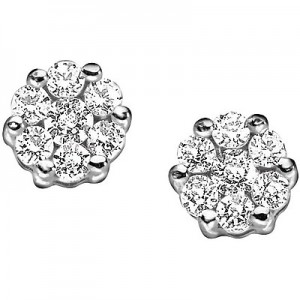 Orecchini Comete Oro 750 E Diamanti